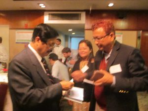 Mr. Shrestha with Prof. Dr.Goswami, India in the meeting